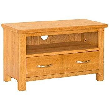 Innovative Unique Small Oak TV Cabinets Regarding Devon Oak Small Tv Unit Amazoncouk Kitchen Home (View 38 of 50)