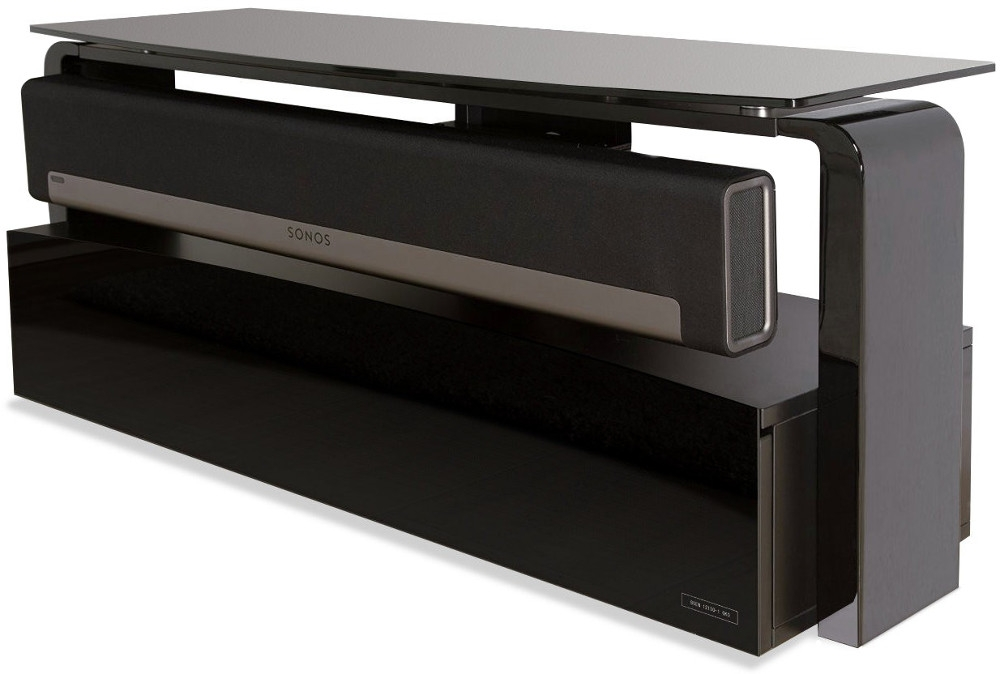 Innovative Unique Sonos TV Stands Pertaining To Buy Alphason As9001 Sonos Playbar Tv Stand Black Marks Electrical (View 16 of 50)