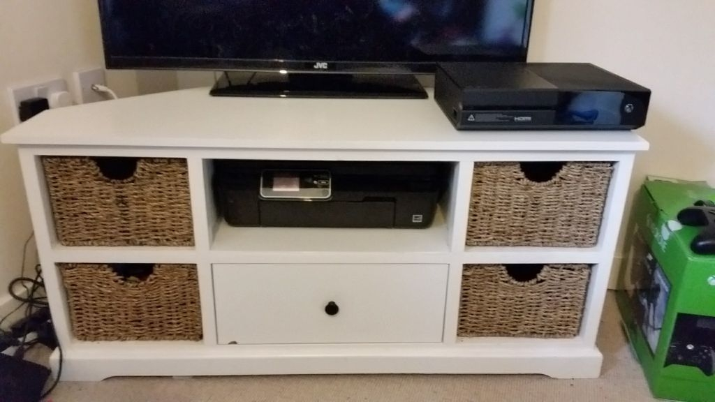 Innovative Unique TV Stands With Baskets In Tv Stand With Wicker Baskets In Somerset Gumtree (Image 36 of 50)