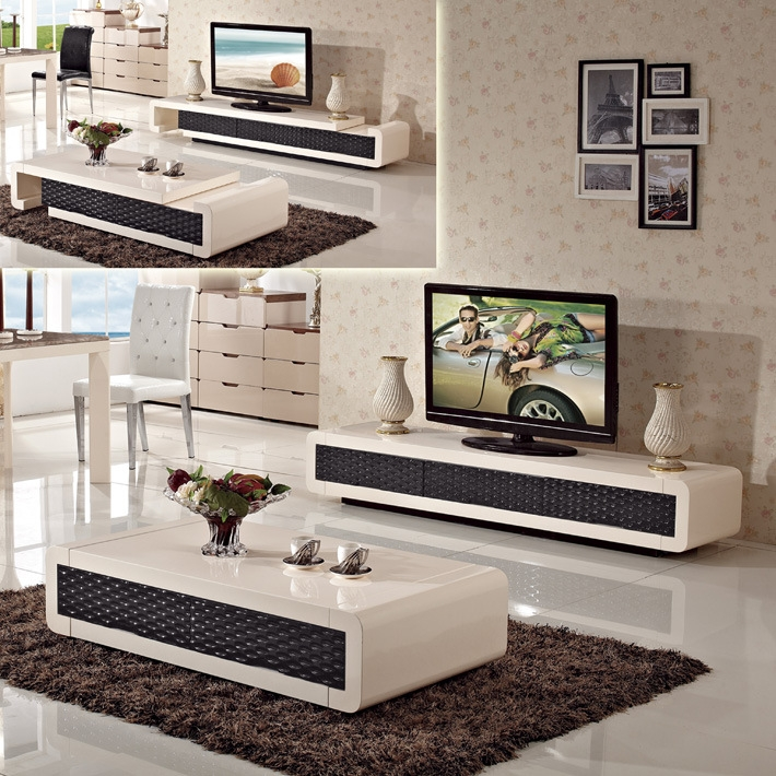 Innovative Unique Tv Unit And Coffee Table Sets For Minimalist Living Room Set Folding Retractable Glass Coffee Table (Image 29 of 50)