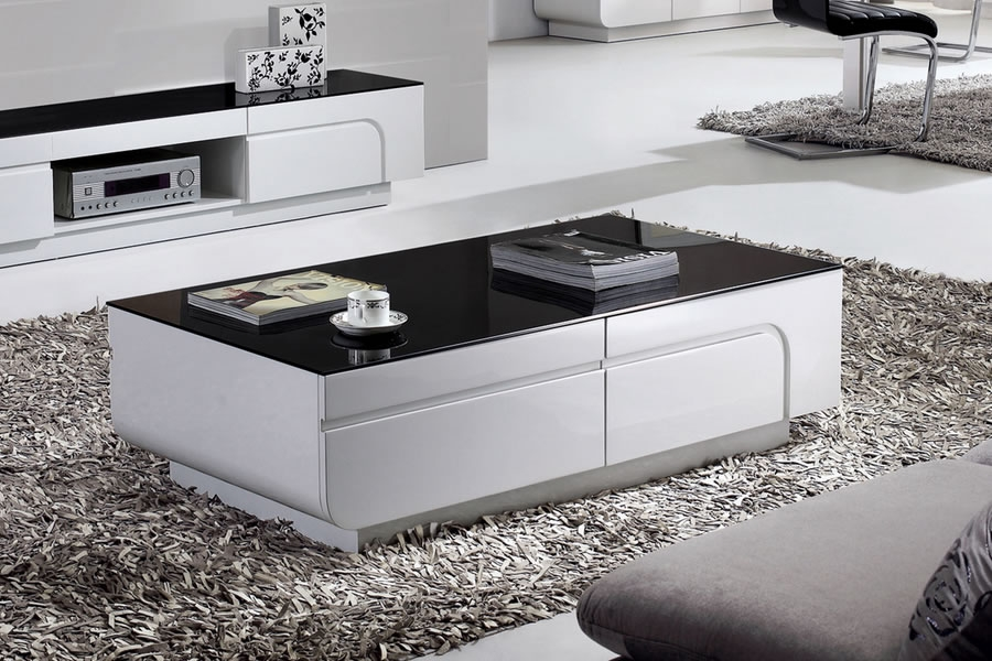 Innovative Unique White And Black Coffee Tables Pertaining To Black And White Coffee Table (Image 23 of 40)