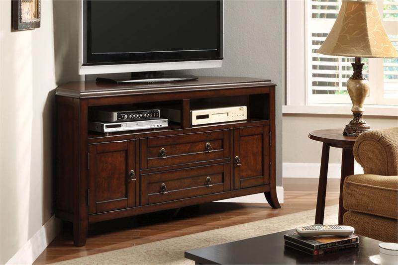 Innovative Variety Of Dark Oak Corner TV Cabinets Intended For Wooden Corner Tv Unit Dream Home Designer (Image 30 of 50)