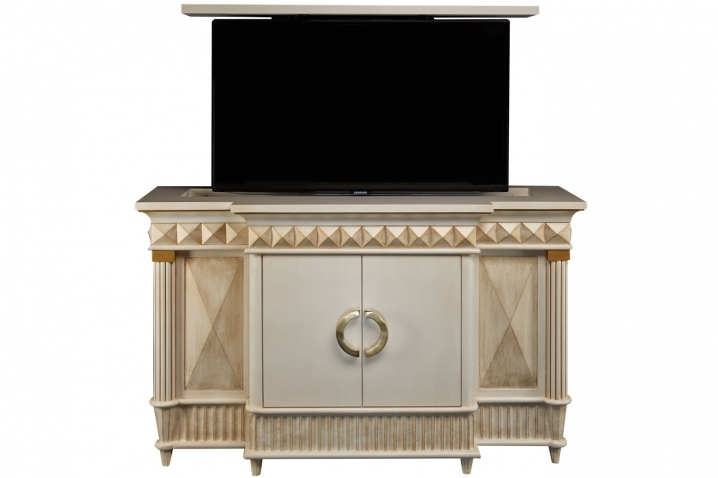 Innovative Variety Of Gold TV Cabinets Intended For Rectractable Tv Lifts Octavious Hidden Tv Lift Cabinet (Image 30 of 50)