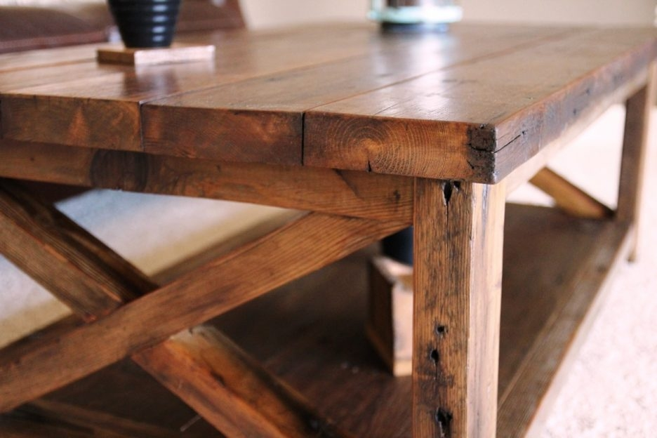 Innovative Variety Of Large Rustic Coffee Tables Throughout Rustic X Coffee Table Tables Rustic Coffee Tables Photo Large (View 39 of 50)