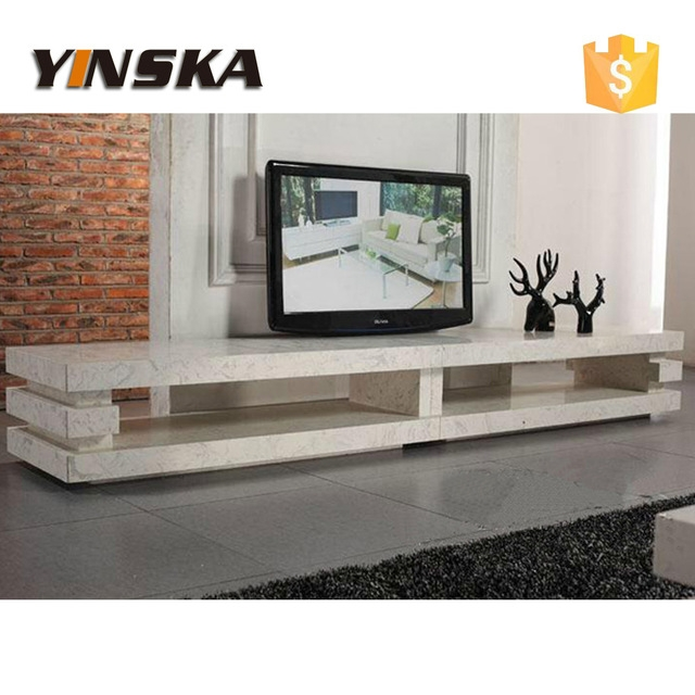 Innovative Variety Of Long TV Cabinets Furniture Regarding Living Room Furnture 3 Layer Design Long Travertine Marble Tv (View 43 of 50)