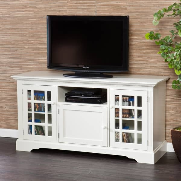 Innovative Variety Of Long White TV Stands Within Harper Blvd Trevorton White Tv Stand Free Shipping Today (Image 32 of 50)
