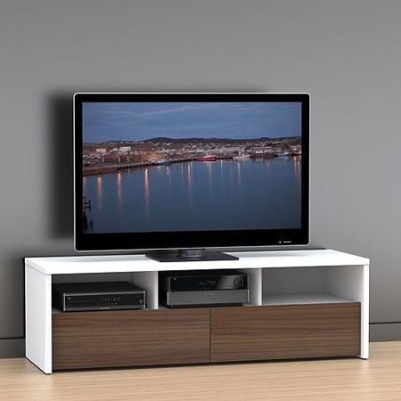 Innovative Variety Of Nexera TV Stands Pertaining To Buy Liber T Whitewalnut Tv Stand For Tvs Up To 60quot In Cheap (View 9 of 50)