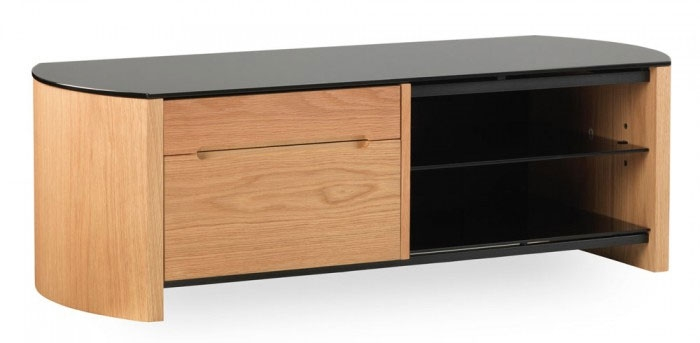 Innovative Variety Of Oak Veneer TV Stands With Alphason Fw1100cb Oak Veneer Tv Stand Ebay (View 3 of 50)