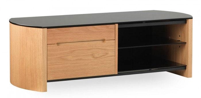 Innovative Variety Of Oak Veneer TV Stands With Alphason Fw1100cb Oak Veneer Tv Stand Ebay (Image 32 of 50)