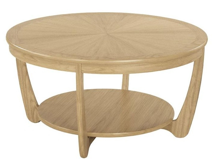 Innovative Variety Of Round Oak Coffee Tables Regarding Oak Round Coffee Table (Image 29 of 40)