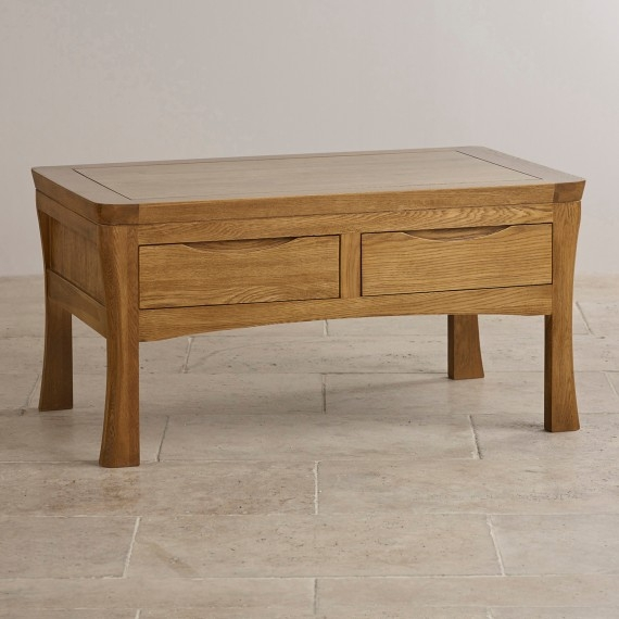 Innovative Variety Of Solid Oak Coffee Table With Storage Throughout Solid Oak Mango Painted Coffee Tables Oak Furniture Land (Image 30 of 50)