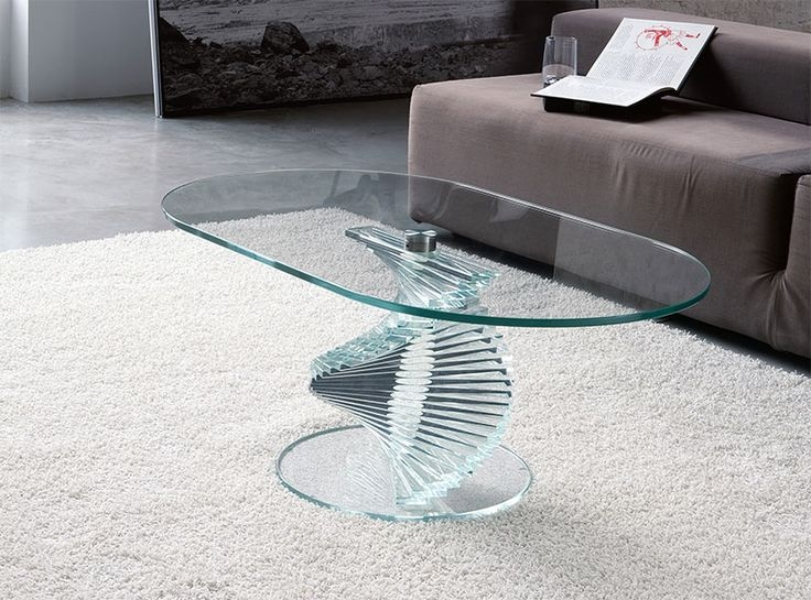 Innovative Variety Of Spiral Glass Coffee Table Throughout 25 Best Oval Glass Coffee Table Ideas On Pinterest Glass Coffee (Image 35 of 50)