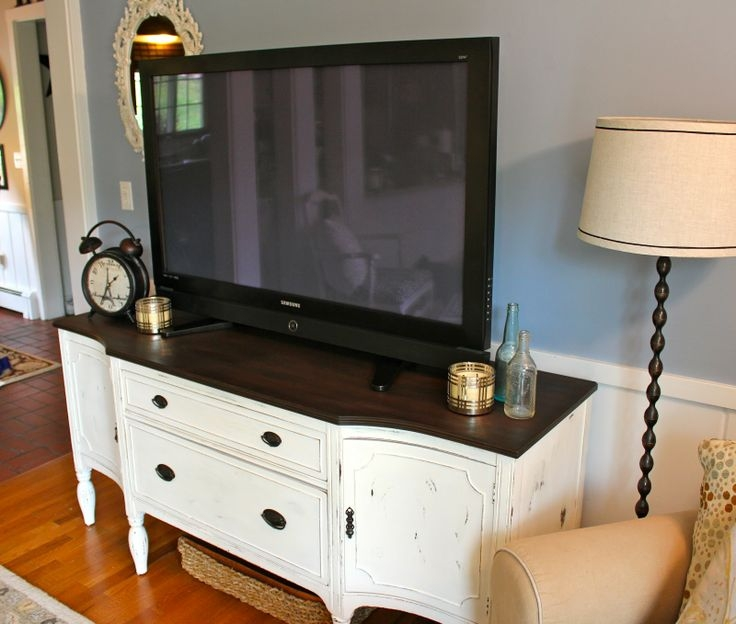 Innovative Variety Of Stil TV Stands With Regard To Tv Stands 10 Inspiring Antique White Tv Stand Design Ideas (View 36 of 49)