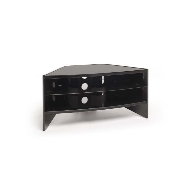 Innovative Variety Of Techlink Riva TV Stands Regarding Techlink Riva Series 50 In Corner Tv Stand Piano Black And Black (Image 32 of 50)
