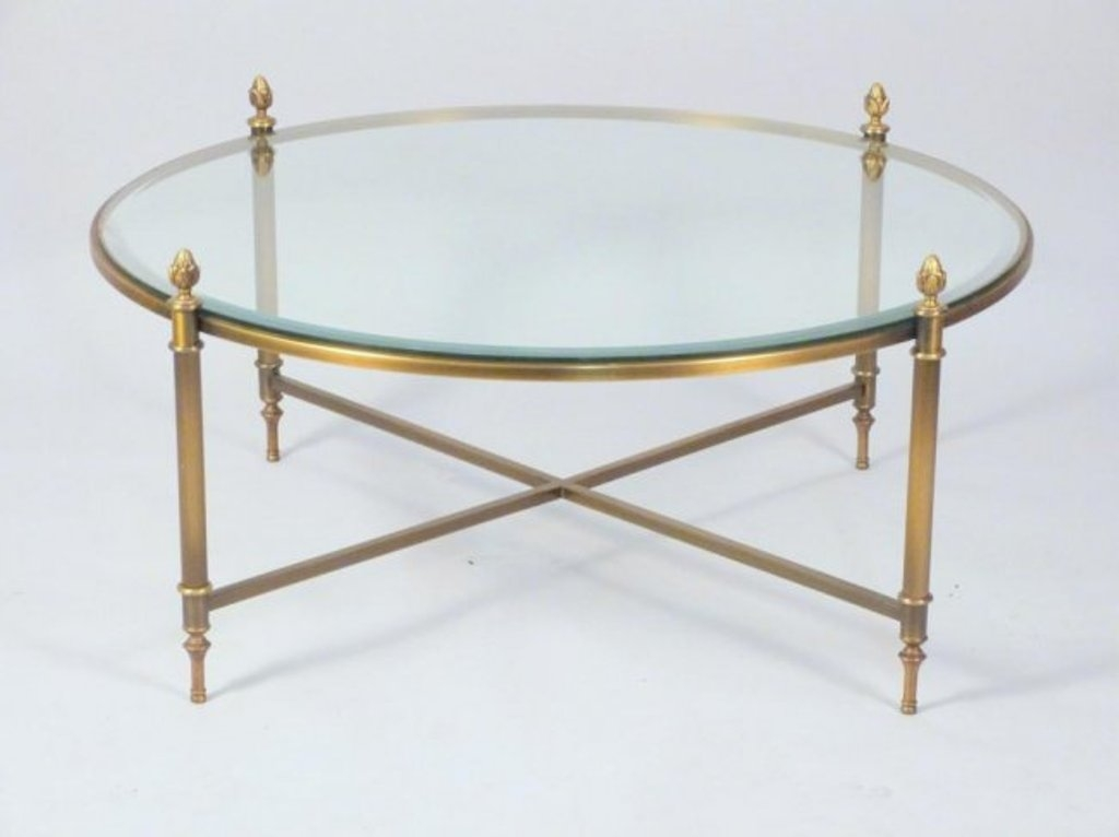 Innovative Well Known Antique Brass Glass Coffee Tables Throughout Coffee Table Brass And Glass Coffee Tables For Living Room Design (Image 33 of 50)