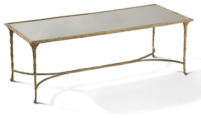 Innovative Well Known Antique Mirrored Coffee Tables For Delano Hollywood Regency Antique Gold Sculpted Leaf Mirrored (View 31 of 40)
