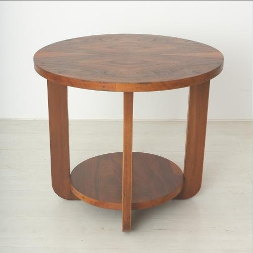 Innovative Wellknown Beech Coffee Tables With Regard To Art Deco Walnut Beech Coffee Table For Sale At Pamono (Image 33 of 50)