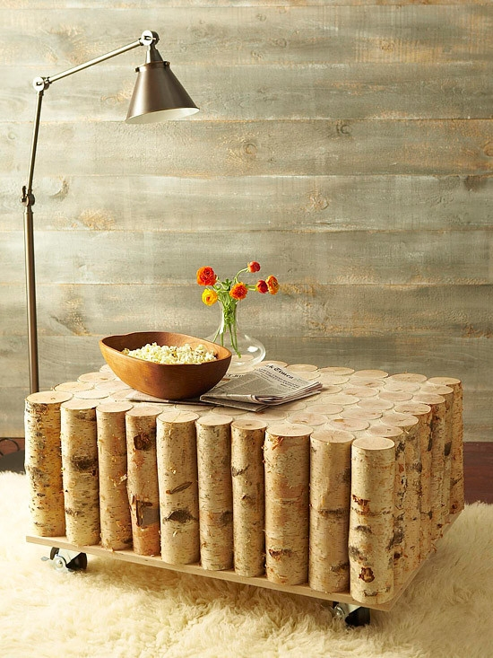 Innovative Well Known Birch Coffee Tables In Make Your Very Own Diy Coffee Table Using Beautiful Birch Logs (View 16 of 50)