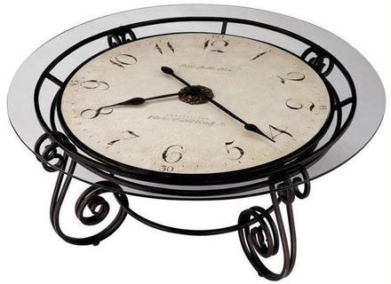 Innovative Well Known Clock Coffee Tables Round Shaped Throughout Coffee Table Coffee Table Glass Top With Clock Vintage Style (Image 35 of 50)