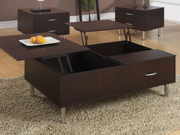 Innovative Wellknown Espresso Coffee Tables Throughout Excellent Lift Top Coffee Table Espresso (View 4 of 50)