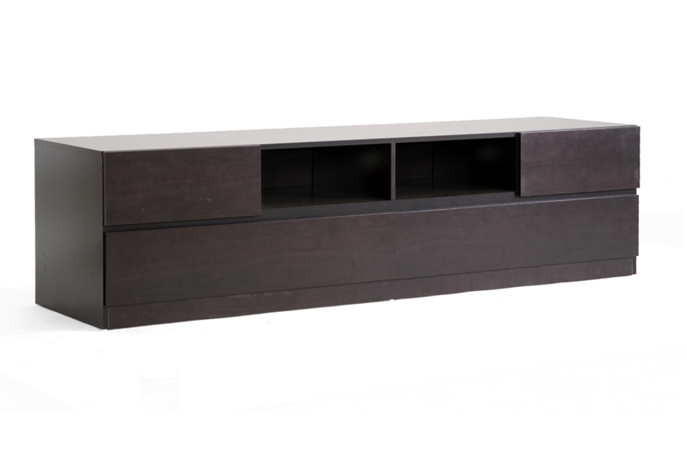 Innovative Wellknown Espresso TV Cabinets In Baxton Studio Espresso Modern Tv Stand One Drawer Home Design Ideas (Image 35 of 50)