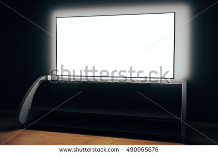 Innovative Wellknown Illuminated TV Stands With Modern Tv Stand Empty Illuminated Flat Stock Illustration (Image 40 of 50)