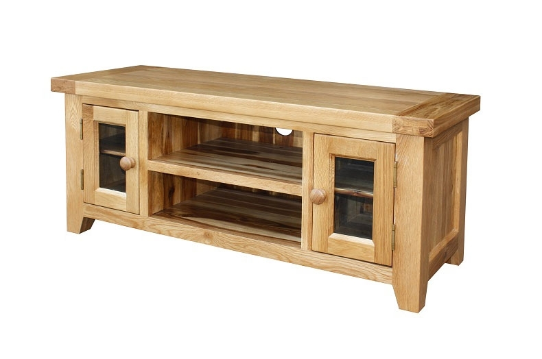 Innovative Wellknown Large Oak TV Cabinets Within Kincraig Large Solid Rustic Oak Tv Unit (Image 33 of 50)