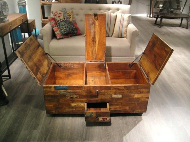 Innovative Well Known Large Trunk Coffee Tables With Regard To Steamer Trunks As Coffee Tables Dealhackrco (View 25 of 50)