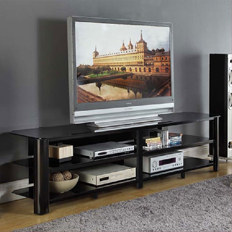 Innovative Wellknown Long Black TV Stands Inside Tv Stands Outstanding Flat Screen Tv Tables For Small Room Decor (View 19 of 50)