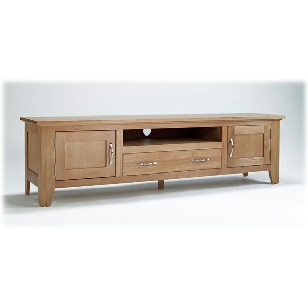Innovative Wellknown Long Oak TV Stands Regarding Large Oak Tv Unit Sherwood Oak Range (View 9 of 50)