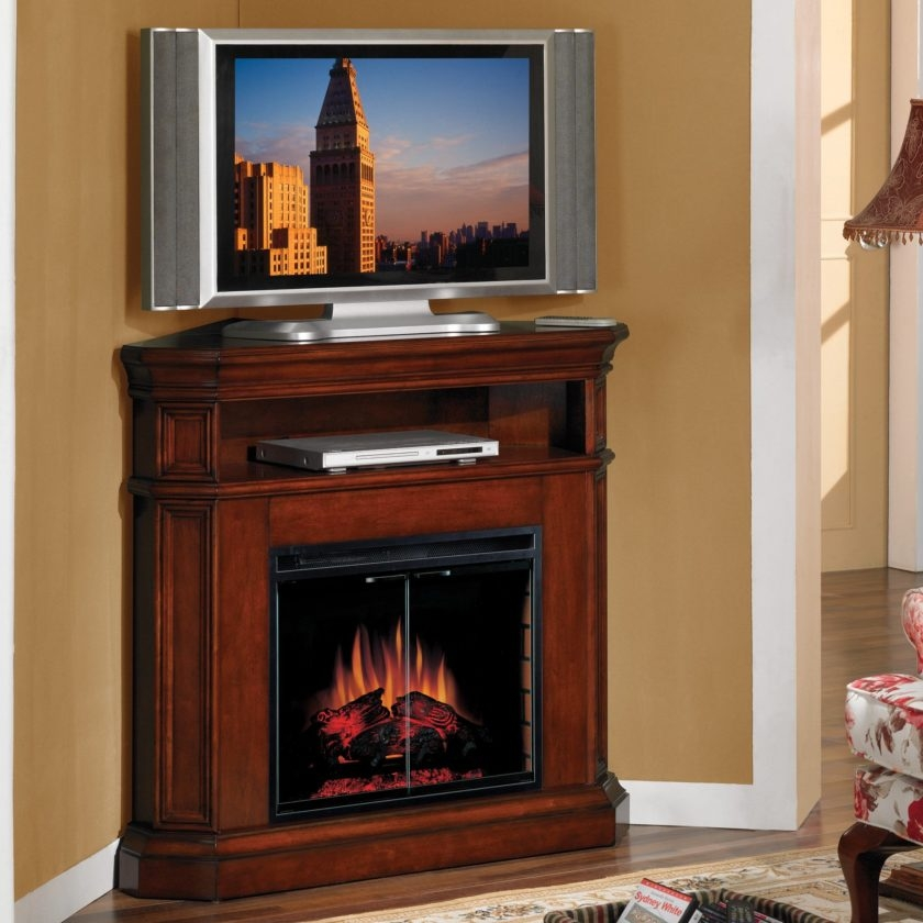 Innovative Well Known Mahogany Corner TV Stands Inside Tall Brown Varnished Mahogany Wood Corner Tv Stand With Media (Image 31 of 50)