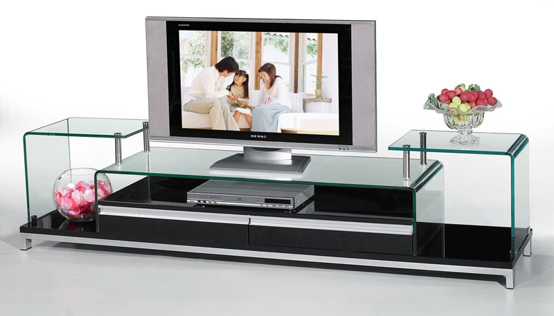 Innovative Well Known Modern Glass TV Stands Within High Quality Tv Stand Designs Interior Decorating Idea (Photo 1 of 50)
