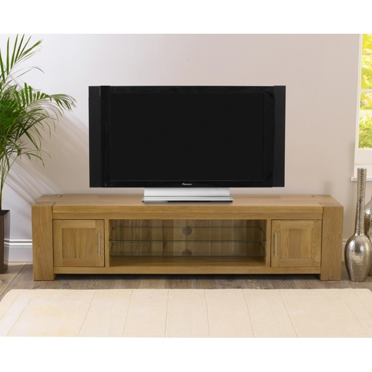 Innovative Well Known Oak Furniture TV Stands Intended For Buy Tampa Solid Oak Tv Stand From Oak Furniture House (View 16 of 50)