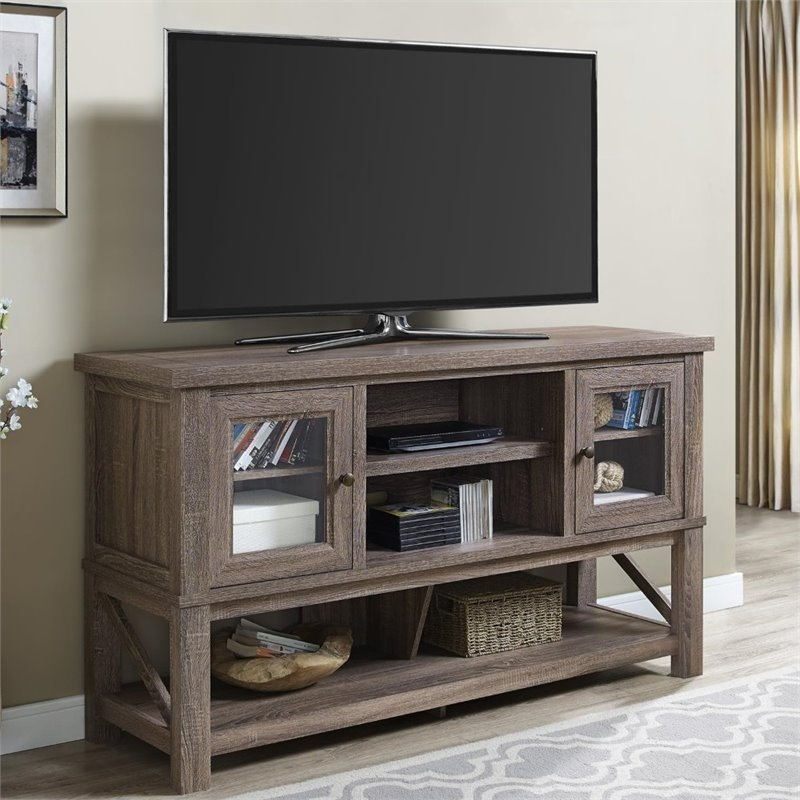 Innovative Well Known Oak TV Stands For Flat Screen Intended For 70 Tv Stand With Glass Doors In Sonoma Oak 1785096com (View 28 of 50)