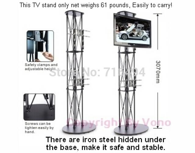 Innovative Well Known Pop Up TV Stands Throughout 2017 Hot Sales Portable Tv Stand Folding High Truss For Trade (Image 32 of 50)
