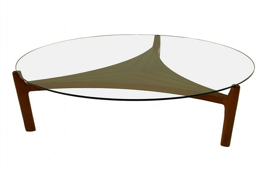 Innovative Wellknown Round Glass And Wood Coffee Tables Intended For Round Glass Coffee Tables (Image 33 of 50)