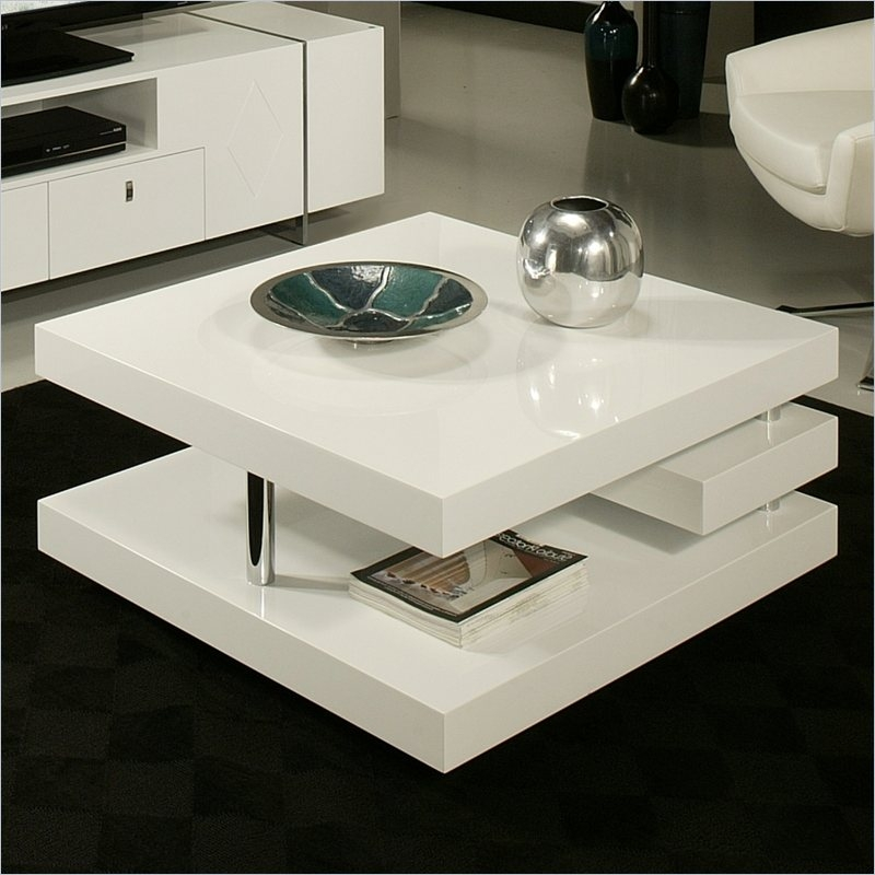 Innovative Wellknown Round High Gloss Coffee Tables Within Living Room The Plastic White Square Coffee Table About Designs (View 13 of 50)