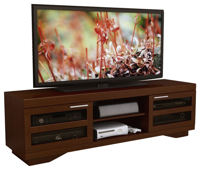Innovative Well Known Sonax TV Stands Inside Sonax Granville 66 Warm Cinnamon Wood Veneer Tv Stand In Cinnamon (View 8 of 50)