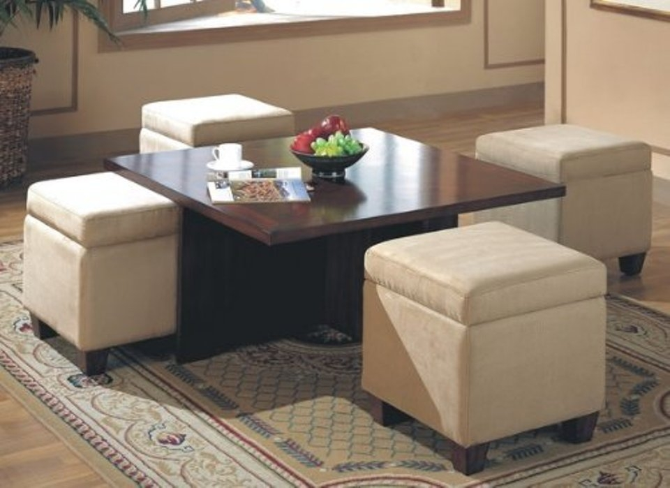 Innovative Well Known Square Coffee Tables With Storages In Square Storage Ottoman Coffee Table (Image 29 of 50)