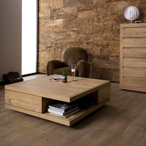 Innovative Wellknown Square Oak Coffee Tables Intended For Oak Flat Square Coffee Tables 2 Drawers (Image 31 of 50)