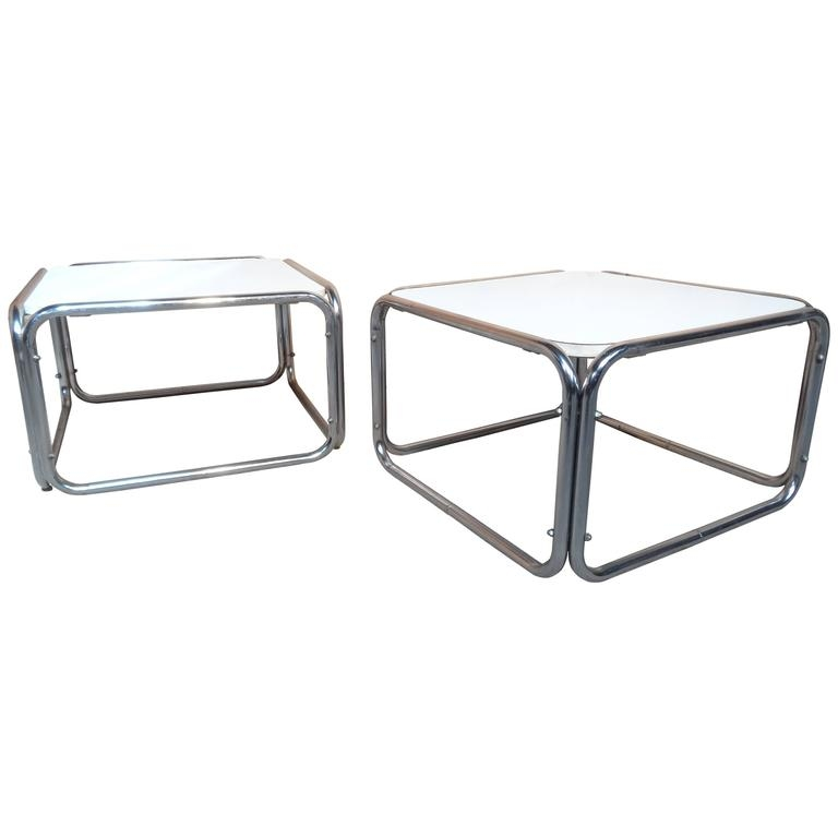 Innovative Wellknown White Cube Coffee Tables With 1960s Chrome White Cube Coffee Tables Only 1 Available For (View 24 of 40)