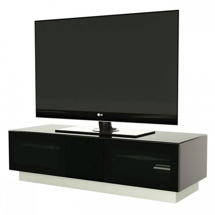 Innovative Wellliked Black TV Cabinets Pertaining To Alphason Element 1250 High Gloss Black Tv Cabinet (Image 33 of 50)