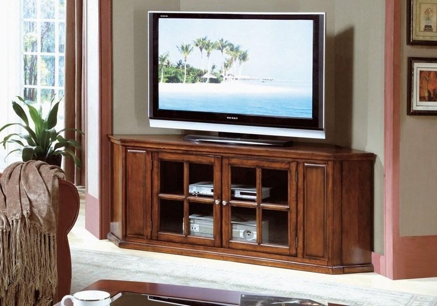 Innovative Wellliked Black Wood Corner TV Stands Regarding Tv Stands 10 Inspiring Design Of Corner Tv Tables For Flat (Image 34 of 50)