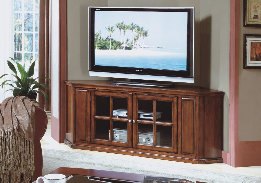 Innovative Wellliked Cherry Wood TV Cabinets Within Furniture Corner Varnished Cherry Wood Tv Cabinet Decor With Glass (View 50 of 50)