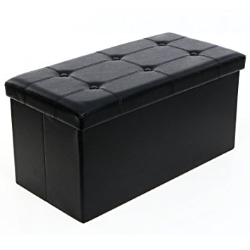 Innovative Wellliked Coffee Table Footrests Intended For Amazon Songmics Folding Storage Ottoman Coffee Table Foot (View 10 of 40)