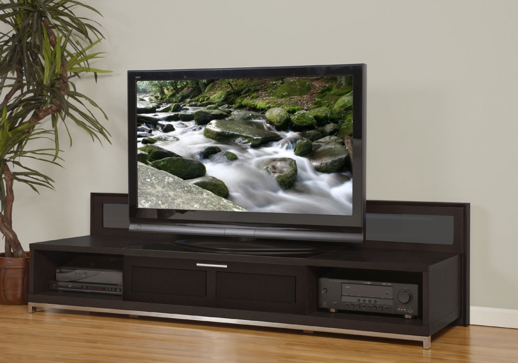 Innovative Wellliked Dark Wood TV Stands Throughout Tv Stands 2017 New Design Of Low Tv Stand Corner Tv Stands For (View 49 of 50)