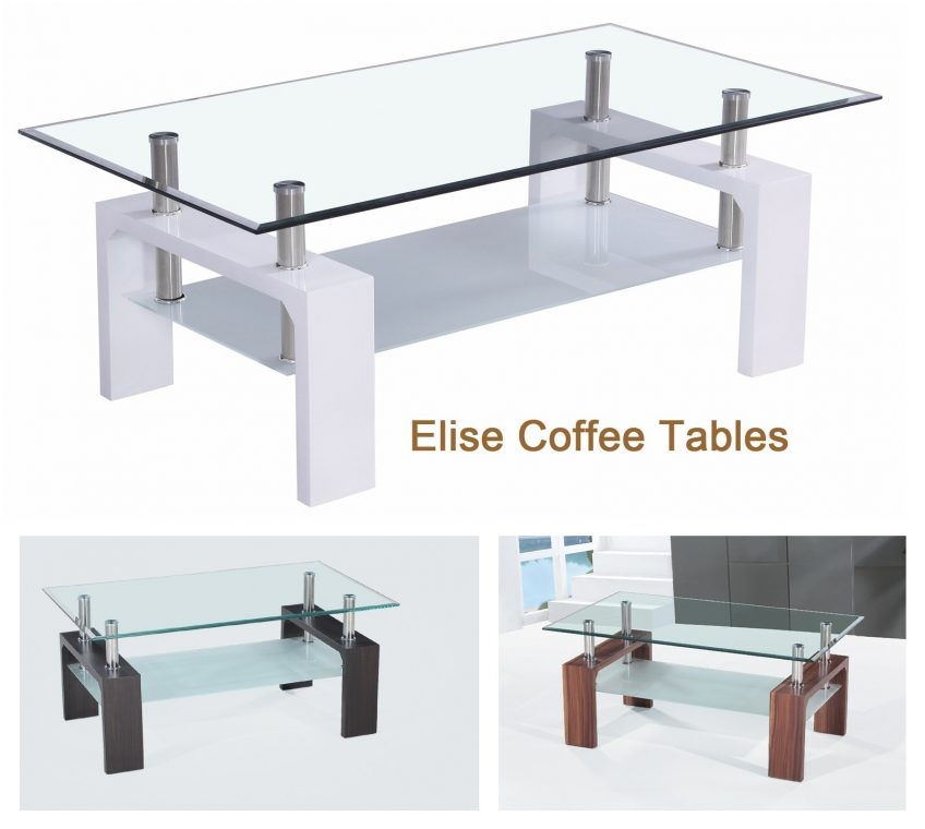 Innovative Wellliked Elise Coffee Tables In Gala Glass Coffee Table Glass Cocinacentralco (Image 24 of 40)