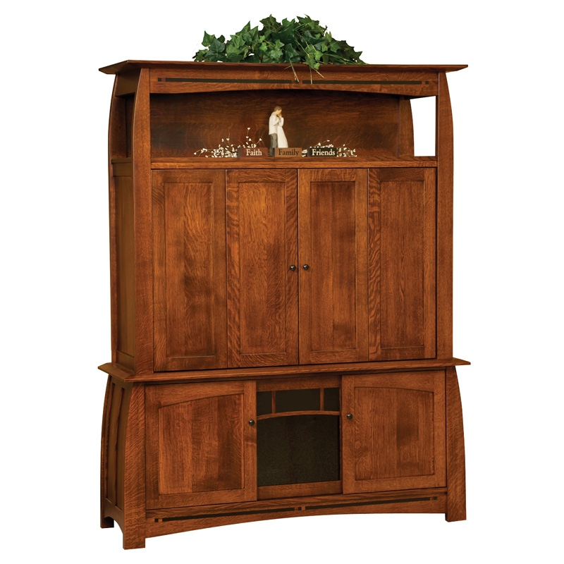 Innovative Wellliked Enclosed TV Cabinets With Doors Within Boulder Creek Enclosed Tv Cabinet Amish Coffee Tables Amish (Image 31 of 50)