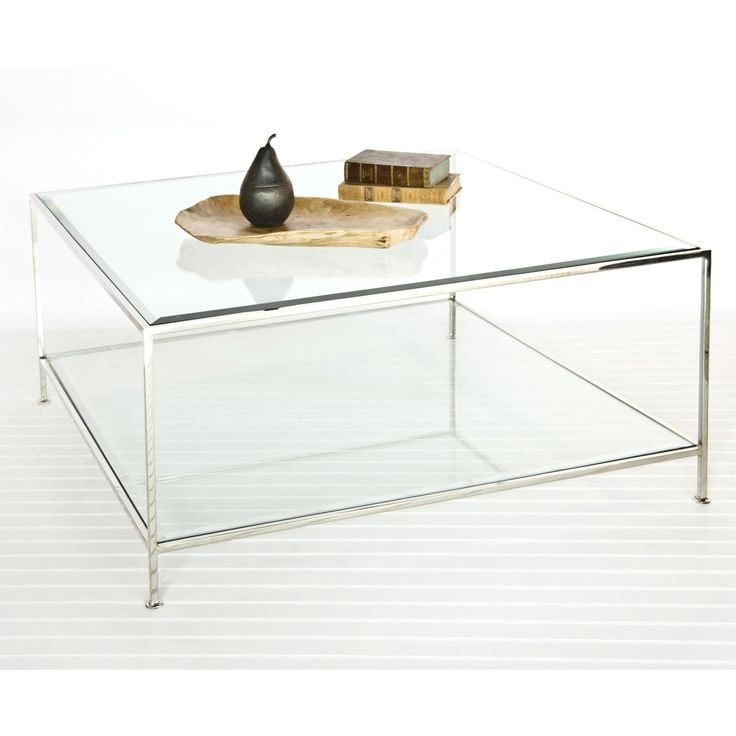 Innovative Wellliked Glass Coffee Tables With Shelf Pertaining To 17 Best Coffee Tables Images On Pinterest (View 30 of 50)