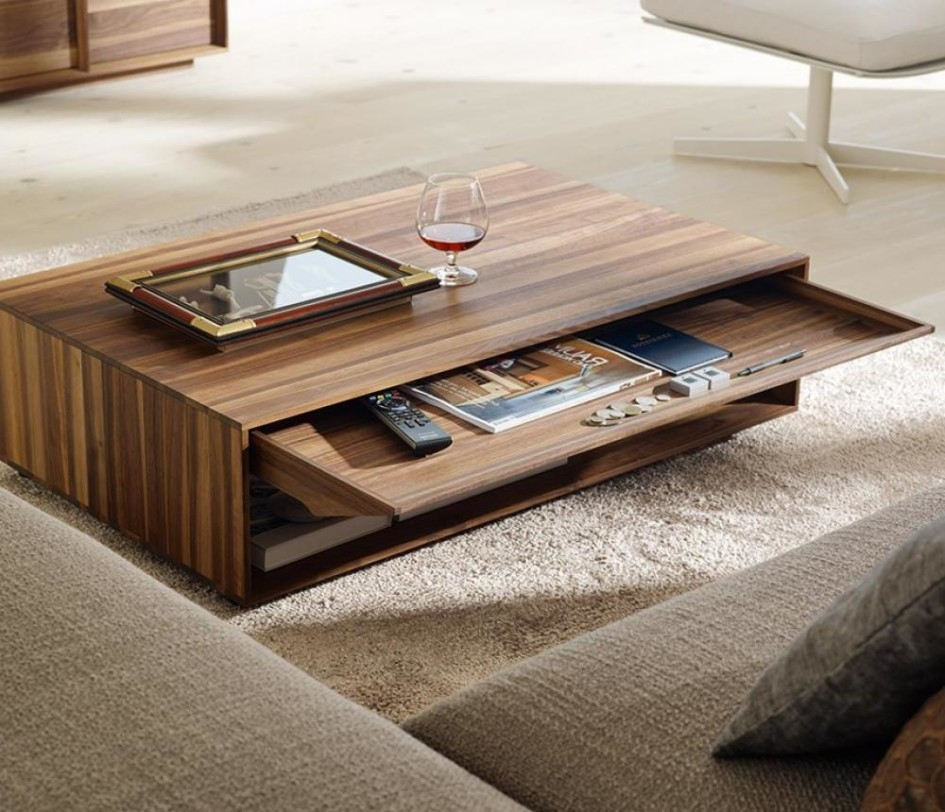 Innovative Wellliked Hardwood Coffee Tables With Storage With Luxurious Design Of Contemporary Coffee Tables Made Of Wooden Also (View 44 of 50)